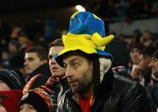 Ukrainian fans Stock Photos