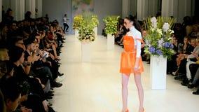 Ukrainian Fashion Week 2014 (ANDRE TAN) in Kiev, Ukraine, stock video footage