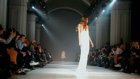 Ukrainian Fashion Week 2014 (ARTEM KLIMCHUK) in Kiev, Ukraine, stock video footage