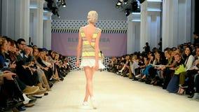 Ukrainian Fashion Week 2014 (ELENA BURBA) in Kiev, Ukraine, stock footage