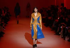 Ukrainian Fashion Week FW18-19: collection by GASANOVA Royalty Free Stock Photos