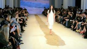 Model on poduim during Fashion Week, Kiev, Ukraine,  stock footage