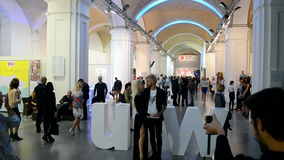 Ukrainian Fashion Week 2014 in Kiew, Ukraine, stock footage