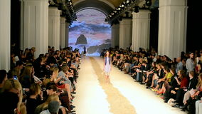 Fashion Week 2014 (Olga ALONOVA) in Kiev, Ukraine,. KIEV - OCT 15: Olga ALONOVA presentation during Ukrainian Fashion Week 2014 on October 15, 2014 in Kiev stock video