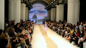 Fashion Week 2014 (Olga ALONOVA) in Kiev, Ukraine, stock video