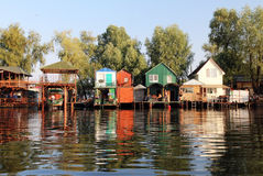 Ukrainian fisherman village Stock Photos