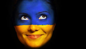 Ukrainian flag Stock Photography