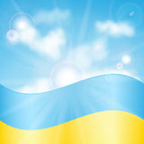 Ukrainian flag Royalty Free Stock Images