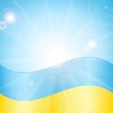 Ukrainian flag Stock Images
