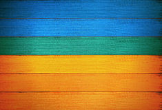 Ukrainian flag wooden plank background wall. Royalty Free Stock Image