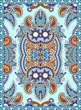 Ukrainian floral carpet design for print on canvas Royalty Free Stock Photo