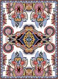 Ukrainian floral carpet design for print on canvas Royalty Free Stock Photos