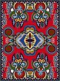 Ukrainian floral carpet design for print on canvas Stock Images