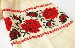 Ukrainian floral cross-stitch Royalty Free Stock Photo