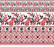 Ukrainian floral ornament Royalty Free Stock Image