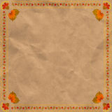 Ukrainian floral ornament on vintage paper background. Royalty Free Stock Photography