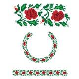 Ukrainian floral ornamental pattern. Ukrainian national floral ornament, decorative rose symbol Royalty Free Stock Photography