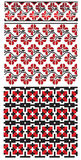 Ukrainian flower embroider Royalty Free Stock Photography
