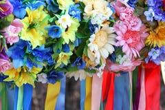 Ukrainian flower wreaths. Stock Images
