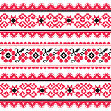 Ukrainian folk art embroidery pattern or print Stock Image