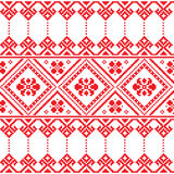Ukrainian folk art floral embroidery pattern or print Stock Photo