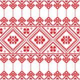 Ukrainian folk art floral embroidery pattern or print Stock Photo