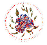 Ukrainian folk art. Ukrainian national motives. Vector illustrations. Hand drawn illustration in Ukrainian folk style stock illustration