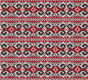 Ukrainian folk art. Traditional embroidery pattern Royalty Free Stock Photo
