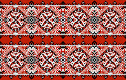 Ukrainian folk art. Traditional national embroidered seamless pattern. Abstract  texture Royalty Free Stock Image