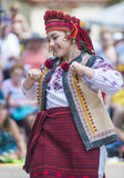 Ukrainian folk dancers Royalty Free Stock Images