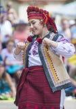 Ukrainian folk dancers Royalty Free Stock Images