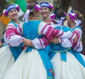 Ukrainian folk dancers Stock Image