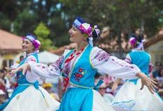 Ukrainian folk dancers Stock Photography