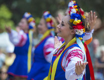 Ukrainian folk dancers Royalty Free Stock Photography