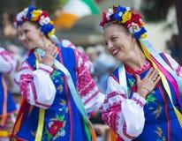 Ukrainian folk dancers Royalty Free Stock Photos