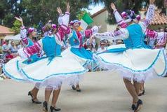 Ukrainian folk dancers Stock Images