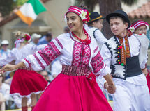Ukrainian folk dancers Stock Photos