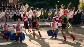Ukrainian folk dances. Folklore. Gopak stock video