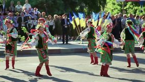 Ukrainian folk dances. Folklore. Gopak. National Ukrainian folklore. Video Ful HD stock footage