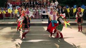 Ukrainian folk dances. Folklore. Gopak stock video footage