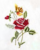 Ukrainian folk embroidery, folk arts and crafts, handmade. Ukrainian folk embroidery, Handmade embroidery, art stock photo
