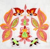 Ukrainian folk embroidery. Handmade embroidery, folk arts and crafts stock image