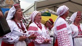 Ukrainian folk song stock video footage