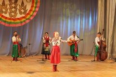 Ukrainian folk songs stock images