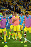 Ukrainian football players Stock Photography