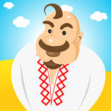 Ukrainian with forelock on his head Royalty Free Stock Photography