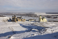 Ukrainian fortress Hotyn. Winter view of the Ukrainian fortress Hotyn Royalty Free Stock Images