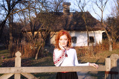 Ukrainian girl in the countryside Stock Images