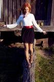 Ukrainian girl in the countryside Stock Image