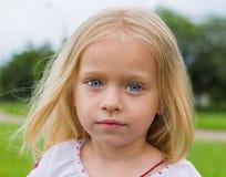 Ukrainian girl- large portrait. Ukrainian girl- large emotion portrait Royalty Free Stock Photo